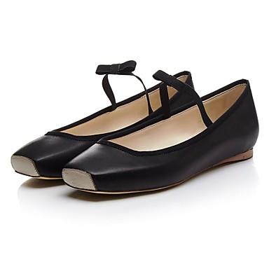Ballerines Amande été Chaussures Plat Noir Femme Nappa Cuir Printemps 06797102 Confort Talon vYwp4Tx
