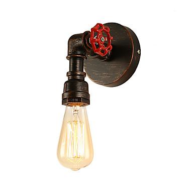 potkrovlje mini retro industrijski stil zidni ognjište restoran i bar metal vode cijev zidne svjetiljke oslikane završiti