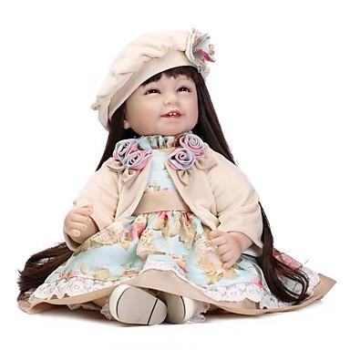 NPKCOLLECTION Autentične bebe Za ženske bebe 24 inch Umjetna implantacija Smeđe oči Dječjom Djevojčice Igračke za kućne ljubimce Poklon