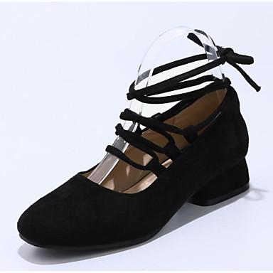 el Tacones Ante Zapatos Tira Bajo 06778253 Mujer Negro Dedo en Pajarita Verano Tobillo Gris redondo Tacón Rosa 0AXR5Bx