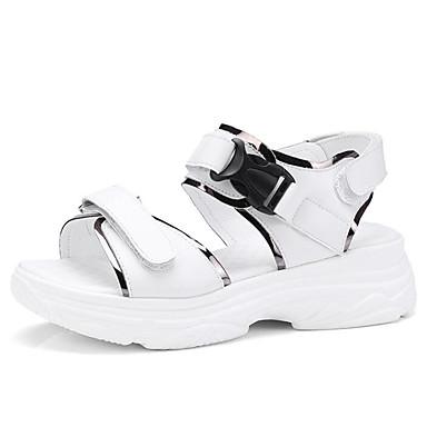 Chaussures Femme Confort Creepers Blanc Cuir Eté Sandales Noir 06837991 FqxZavw
