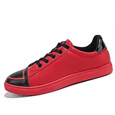 Muškarci PU Jesen Udobne cipele Sneakers Obala / Crn / Crvena