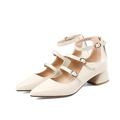 Mary Talons Automne Jane Beige Noir Chaussures 06837972 Talon Chaussures à Femme Cuir Nappa Bottier 8Ingq