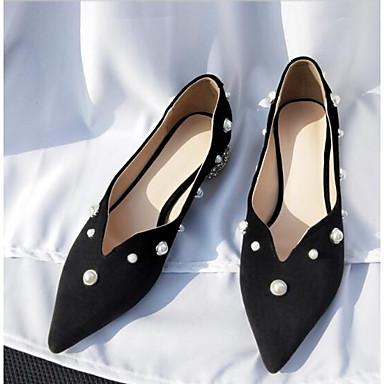 Femme Confort de Bleu 06840550 Chaussures Ballerines Daim Eté Talon Noir Peau Bout fermé Plat mouton BqrUxRBY