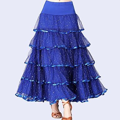 Für den Ballsaal Unten Damen Leistung Tüll / Milchfieber Horizontal gerüscht / Pailetten Normal Röcke