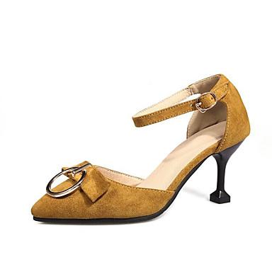 Talon Chaussures Talons Confort 06785740 Femme Chaussures Printemps Basique à Escarpin Rose Cône Clair Jaune Noir Polyuréthane zHz8Wc1