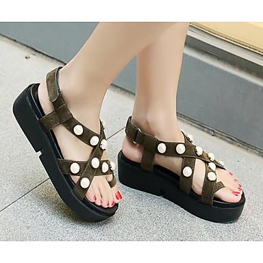 Rose Femme Confort Vert Chaussures Noir Sandales 06818533 Eté Polyuréthane Creepers wpPqFg