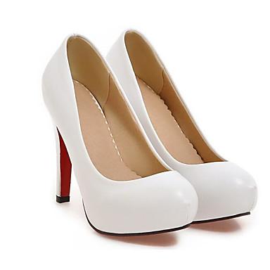 PU Blanco Confort Stiletto Zapatos Tacones Otoño Negro Beige Primavera Básico Tacón 06785738 Mujer Pump 5xqgAx