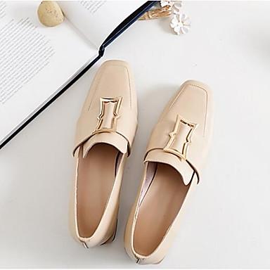 des des des chaussures en cuir nappa - printemps / été du confort des mocassins et glisser ons block talon fermé orteil noir / Marron  / almond de4fa8