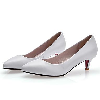 Femme Talons Chaussures Kitten Confort Basique 06797742 Chaussures Nappa Printemps Cuir Heel Automne Noir Blanc Escarpin à rrTC4qw