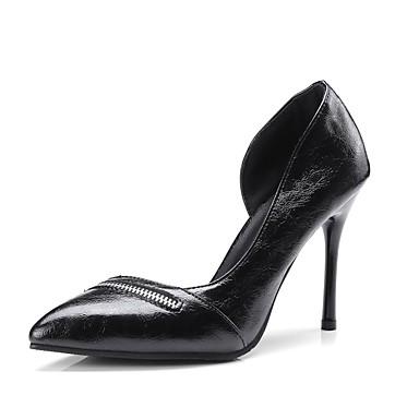 Talons Printemps Chaussures Talon 06833358 Aiguille à Chaussures été Noir Polyuréthane Confort Vin Femme SndxaT00