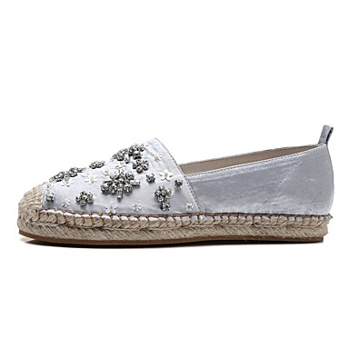 Confort Femme 06827624 Talon et Gris Satin Automne Plat Rose Mocassins Chaussons D6148 Chaussures OwAAtqyra