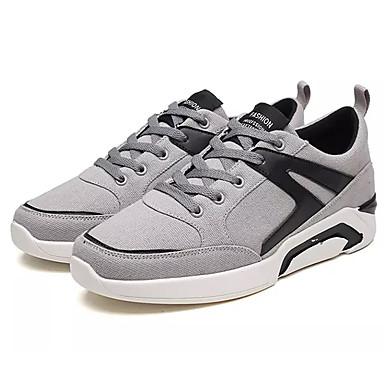 Men's Canvas Fall Comfort Sneakers Color Block Gray / / Black / Gold / Gray Black / White 6e6f94