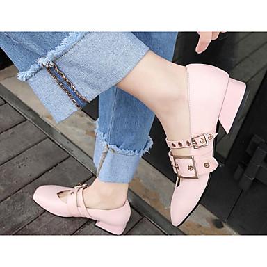 Femme Chaussures Cuir Nappa Confort Printemps / Automne Confort Nappa Chaussures à Talons Talon Bottier Noir / Rose / Amande 94078f