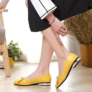 Bajo Wine Zapatos Puntiagudo Mujer Tacón Básico 06837249 Pump PU Blanco Verano Tacones Dedo Amarillo 0dqq7g