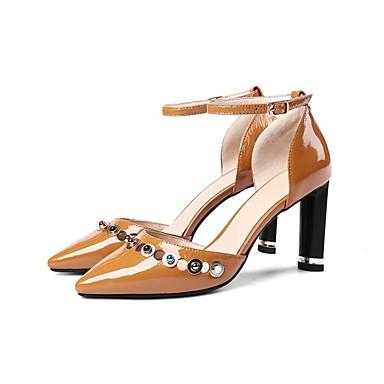 Cuir Chaussures Escarpin Eté 06831350 Bottier Femme Chaussures Verni Talon Talons Noir Basique à Marron d5Ixwwt