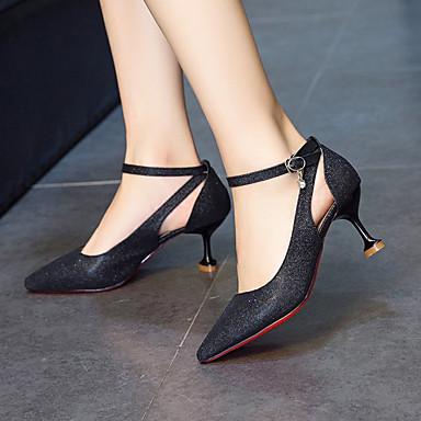 y Piezas Dedo Rosa Negro Puntiagudo Mujer Dos Verano Cuero Tacón Zapatos Carrete 06796457 D'Orsay Plateado Tacones Patentado PU aBYfq