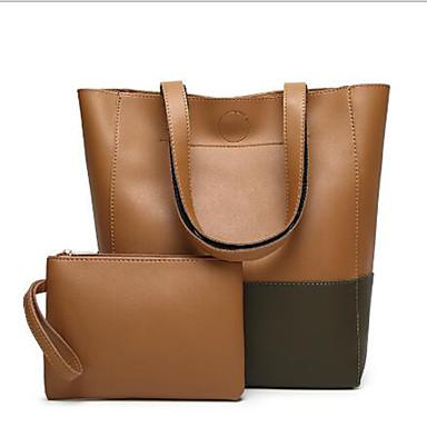 56eac27e6d Γυναικεία Τσάντες PU Σετ τσάντα 2 σετ Σετ τσαντών Φερμουάρ Καφέ   Μαύρο  Γκρι   Σκούρο κόκκινο