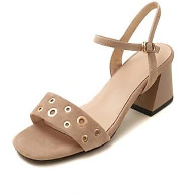 Talon Noir 06818502 Daim Chaussures Bottier ouvert Eté Rose Sandales Confort Bout Amande Femme XzqdRR