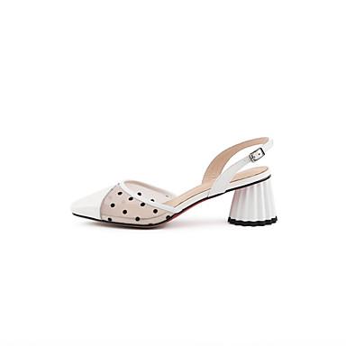 Talon Chaussures Femme Chaussures Nappa Talons Printemps Blanc à Confort été 06840382 Rouge Cuir Bottier xxrwa4