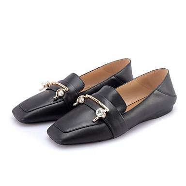 D6148 Femme Mocassins Talon 06832928 Amande Nappa Chaussons Noir Confort fermé Plat Cuir Printemps Bout et Chaussures Eté YYqTzHx