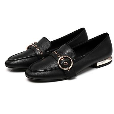 Mocassins et Printemps Noir D6148 Femme Brun Nappa Talon 06781906 Foncé Cuir Bas Chaussons Confort Chaussures qAX1wT