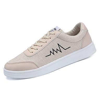 Muškarci Platno / PU Jesen Udobne cipele Sneakers Obala / Crn / Bež
