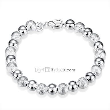 billige Motearmbånd-Dame Perlearmbånd 3D Kreativ damer Enkel Klassisk Kobber Armbånd Smykker Sølv Til Daglig Arbeid / Sølvplett