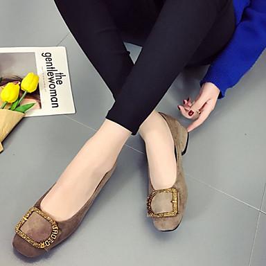 Dedo Negro Verano Tacones Mujer Zapatos 06792603 Tacón redondo PU Básico Bajo Caqui Pump EBEqx8v