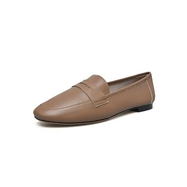 Printemps Chameau Nappa Ballerines été Talon Confort 06811293 Cuir Chaussures Plat Femme Noir 1q7twRvR