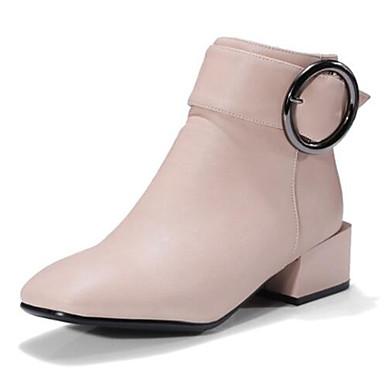 Automne Femme carré Bout Bottier Demi Talon amp; Microfibre 06833392 Bottes Noir Botillons Chaussures Printemps Bottine Rose Gris Botte xIrvI1npz