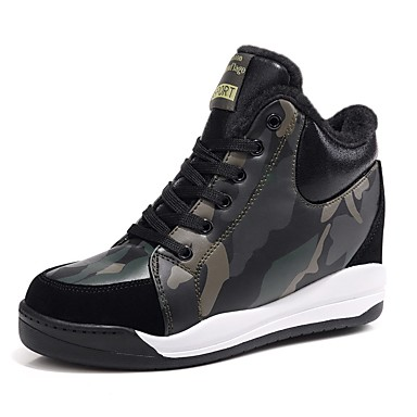 synthétique Vert Basket Femme 06795531 Matière hiver Véronèse Confort Hauteur Automne semelle Chaussures compensée de xT4wF