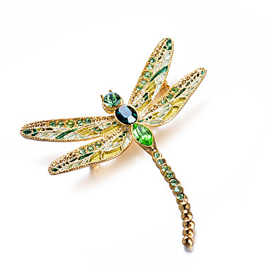 Womenu0027s AAA Cubic Zirconia Classic Brooches   Dragonfly Artistic, Luxury,  Classic Brooch Green For