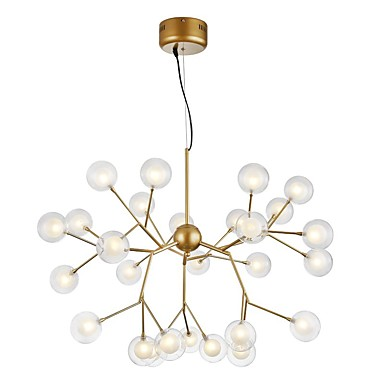 ZHISHU Novelty Chandelier Ambient Light Painted Finishes Metal Glass Creative, New Design 110-120V / 220-240V Bulb Included / G4
