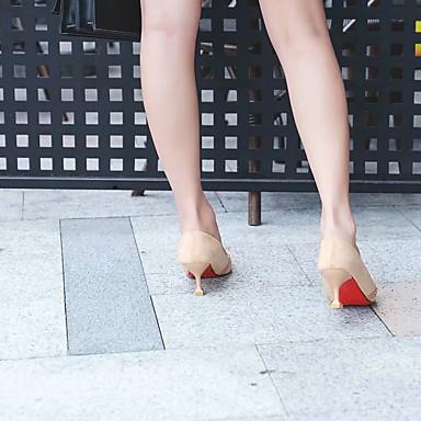 Tacones Tacón Almendra Mujer Dedo Puntiagudo Ante 06832488 Verano y Pump Fiesta Básico Noche Kitten Zapatos Negro wwXfqxB