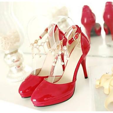 Zapatos Negro Mujer Rojo 06777645 Almendra Tacones Primavera Stiletto PU Confort Tacón dxgq6