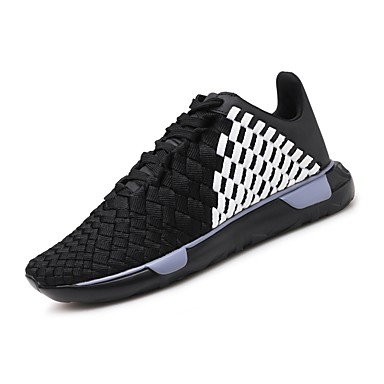 Men's Mesh / Shoes PU(Polyurethane) Summer Comfort Athletic Shoes / Running Shoes Black / White / Black / Red 87acfe