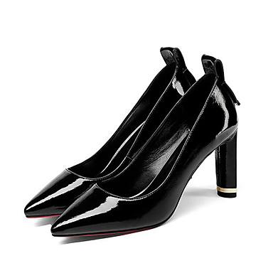 Chaussures 06797025 Chaussures Talon clair Noir Basique Automne Printemps Nappa Cuir à Vert Femme Aiguille Confort Talons Escarpin pwCRqxTa