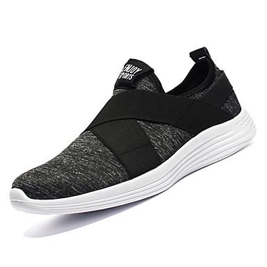 Men's Mesh Fall Comfort Color Athletic Shoes Walking Shoes Color Comfort Block Black / Gray a64f94