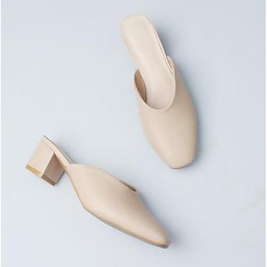 06783111 fermé Femme Amande Chaussures Talon Eté amp; Cuir Sabot Bottier Nappa Confort Bout Mules Bleu Z6gqPxZAw