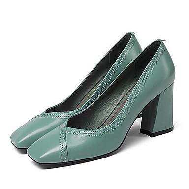 Femme Noir Nappa Bottier Vert à Printemps Cuir Chaussures Bleu 06840041 Talons Talon Chaussures Confort rwqr1Cv