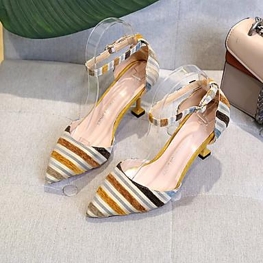 Zapatos Fiesta Stiletto Punto Noche D'Orsay Piezas Dedo Rayas 06780634 Marrón A Dos Azul Mujer Tacón Puntiagudo Tacones y PU y Verano 1qvxn1dFZ
