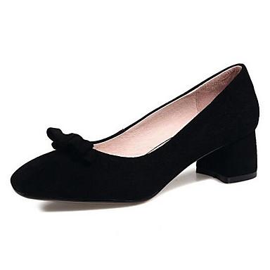Gris Noir Rose Femme Talons Talon 06831442 Confort Printemps Chaussures à Chaussures Daim Bottier TqvSwUZ