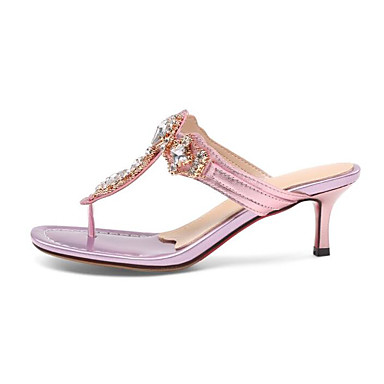 Žene Cipele PU Ljeto Udobne cipele Sandale Stiletto potpetica Pink / Pink