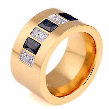billige Motering-Par Parringer Syntetisk Diamant 1pc Gull Rustfritt stål Rund Geometrisk Form damer Stilfull Kunstnerisk Bursdag Gave Smykker Elegant Kreativ Kul