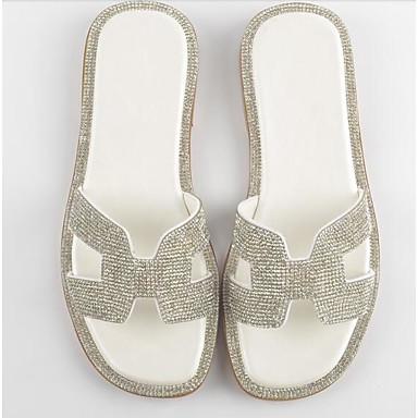 Žene Ovčja koža Ljeto Udobne cipele Papuče i japanke Ravna potpetica Obala / Pink