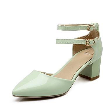 PU 06833053 Verde Mujer Tacones Primavera Rojo Tacón Rosa Confort verano Zapatos Cuadrado f5O51wqxT