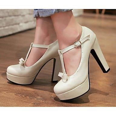 Rosa Primavera Confort 06794831 Plataforma Negro Pump Beige Otoño PU Mujer Zapatos Tacones Básico UxwqCUP4
