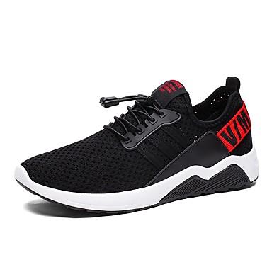 Muškarci Osvjetljenje Platno / Mrežica Ljeto Udobne cipele Sneakers Crno-bijeli / Crno / crvena