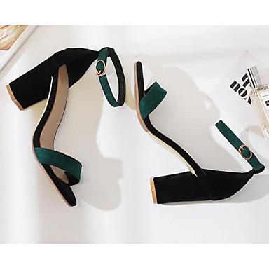 Eté Escarpin Basique Confort Talon Chaussures 06818479 Polyuréthane Vert Beige Noir Bottier Sandales Femme IqgwEFW